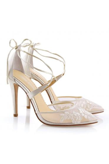 Anita Bridal Shoes in Ivory