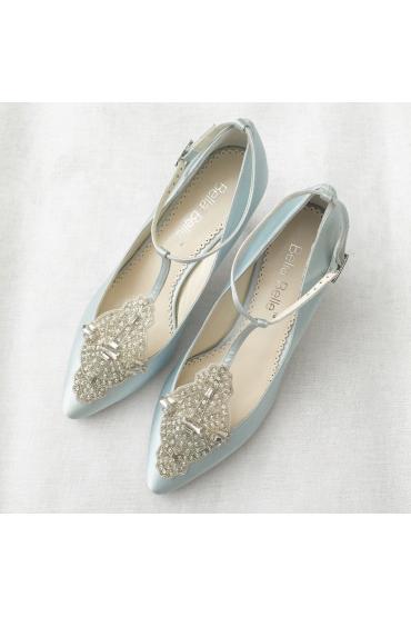 Art Deco Bridal Shoes in Blue