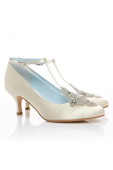 Art Deco Bridal Shoes in Ivory