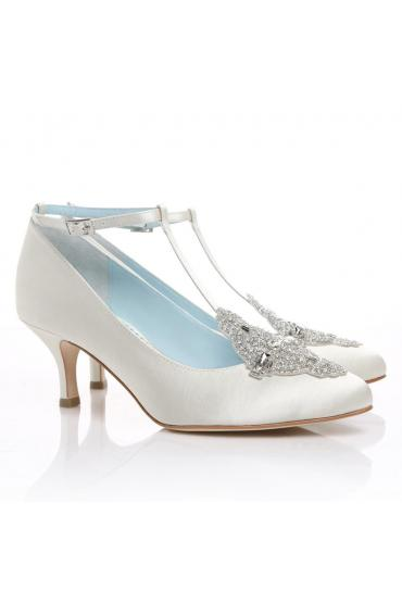 Art Deco Bridal Shoes in White