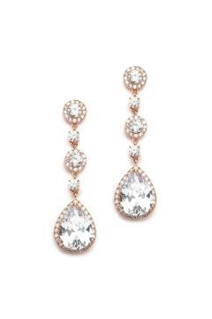 1920s Best-Selling Drop Bridal Earrings in Gold