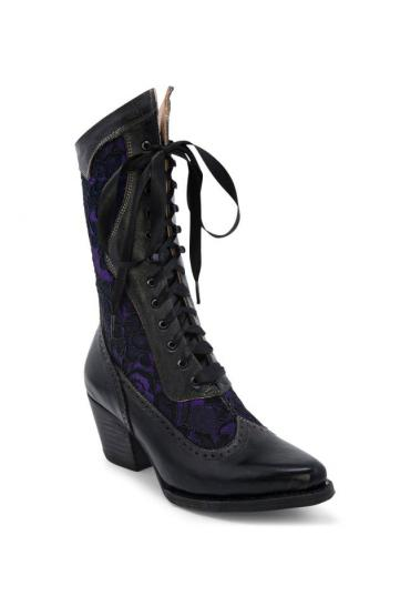 Biddy Victorian Boots in Black