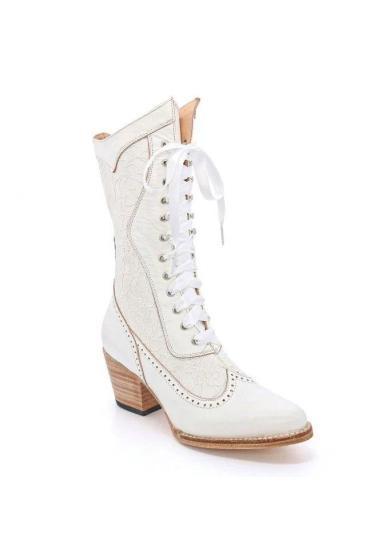 Biddy Victorian Boots in Nectar Rustic