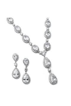 Bridal Necklace Set in Silver