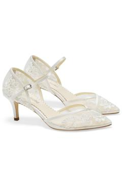 Candice Bridal Heels in Ivory