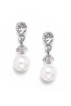 Classic Pearl Bridal Earrings