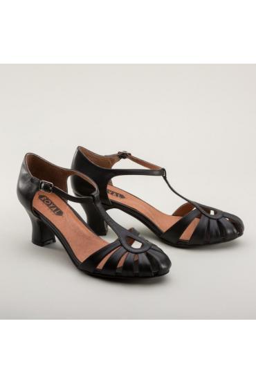 Eve Art Deco Vintage Sandals in Black