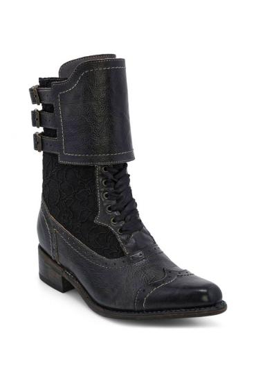 Faye Victorian Style Boots in Black