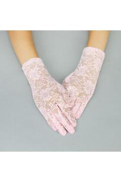 Graceful in Lace Lady Gloves in Pink