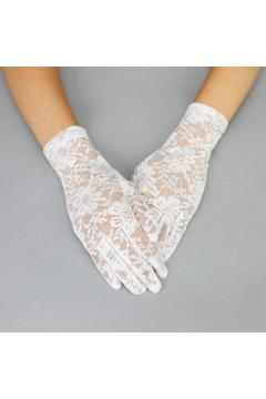 Graceful in Lace Lady Gloves in White